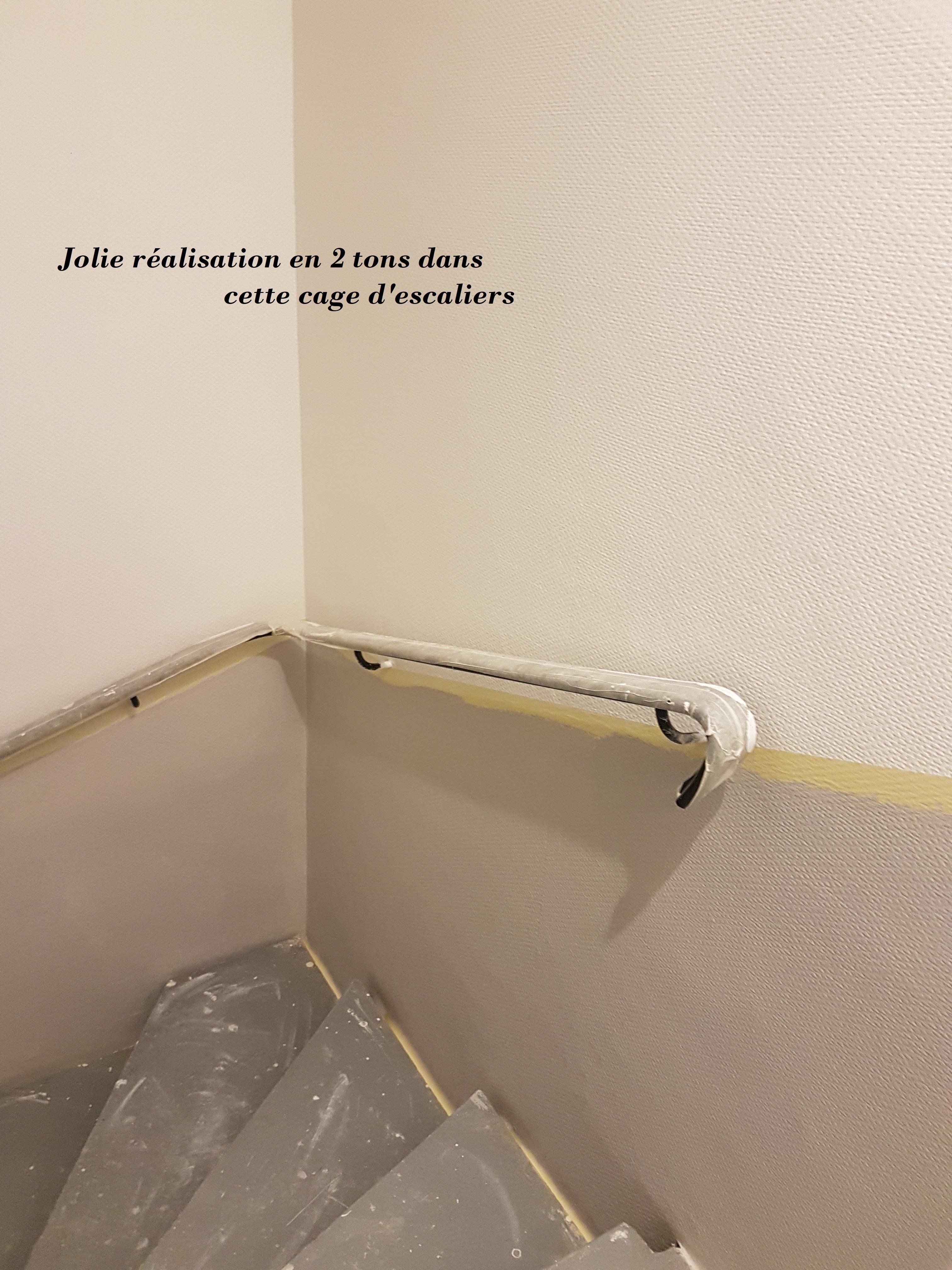 Peindre Une Cage D Escalier En 2 Couleurs entreprise de peinture - sepia